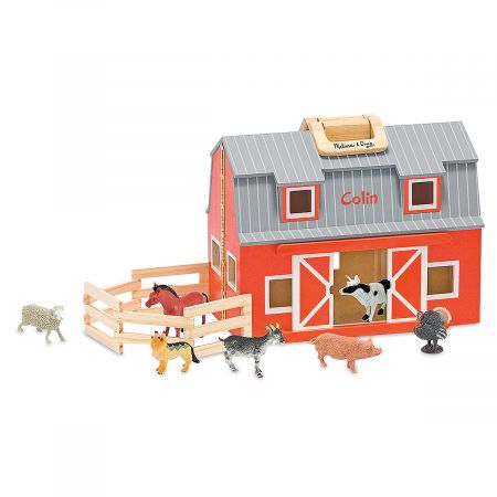 Fold & Go Personalized Barn by Melissa & Doug