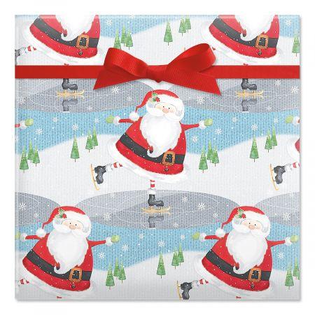 Nifty Santa Jumbo Rolled Gift Wrap