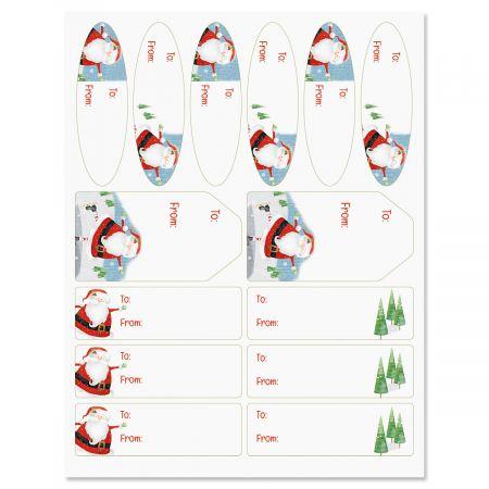 Nifty Santa Labels