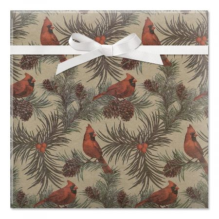 Cardinals Jumbo Rolled Gift Wrap