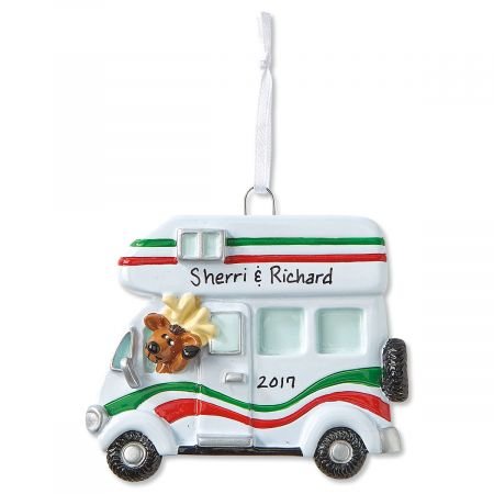 Personalized Deluxe RV Christmas Ornament