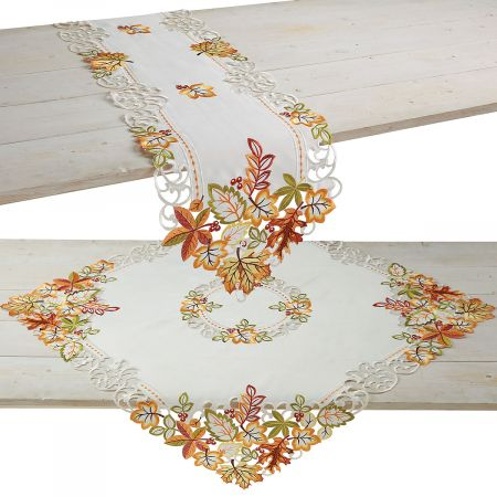 Diecut Fall Table Runner and Table Linen