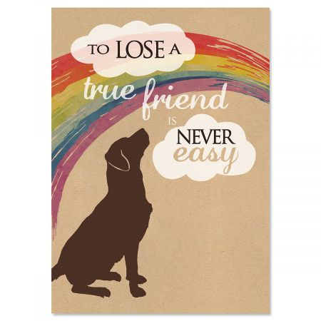 Dog Pet Sympathy Cards