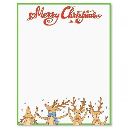 Reindeer Christmas Letter Papers