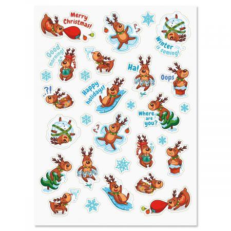 Cartoon Reindeer Stickers