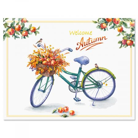Autumn Bicycle Note Cards