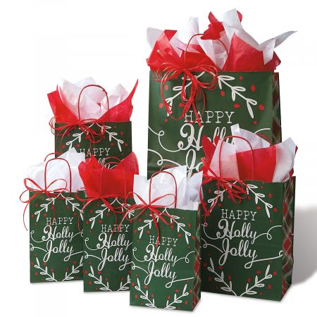 Happy Holidays Gift Bag Set