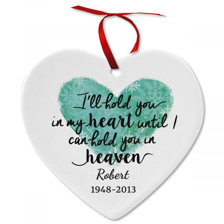 Personalized in My Heart Ceramic Ornament