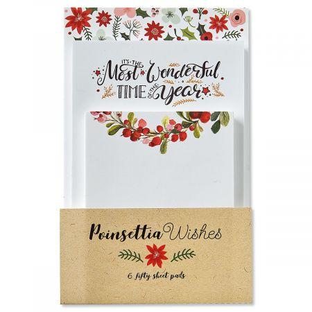 Poinsettia Wish Paper Pad Value Pack