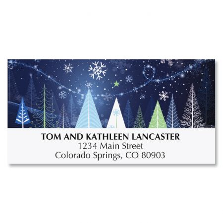 Holiday Trees Deluxe Address Labels