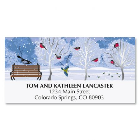 Winter Trees Deluxe Address Labels