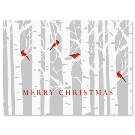 Birch Forest Christmas Cards - Personalized