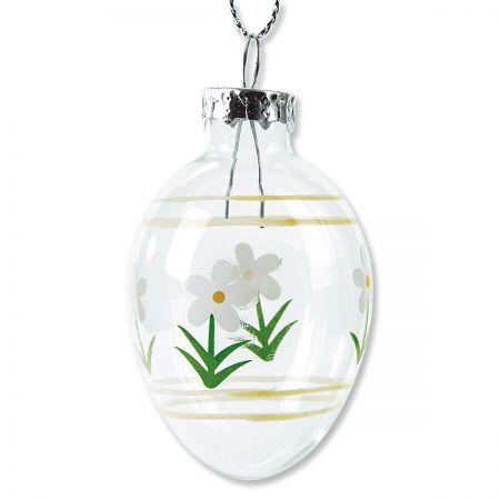 Handpainted Glass Easter Egg Ornaments