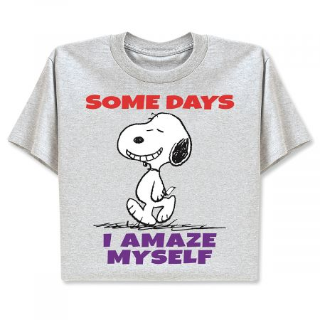Peanuts® T-Shirts - I Amaze Myself - Medium