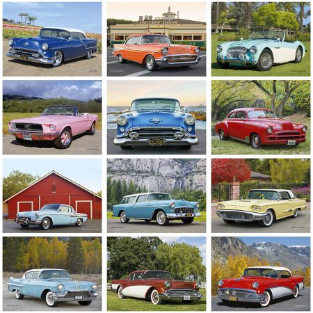 2019 Classic Cars Wall Calendar