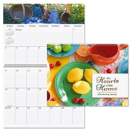 2019 All Hearts Come Home Big Grid Planning Calendar