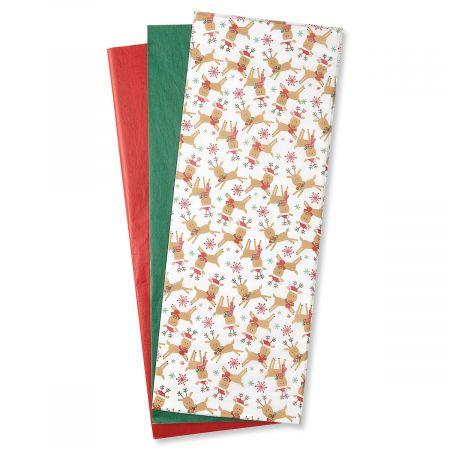 Festive Reindeer Tissue Sheets - BOGO