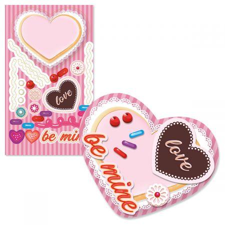 DIY Valentine Cookie Shape Stickers - BOGO