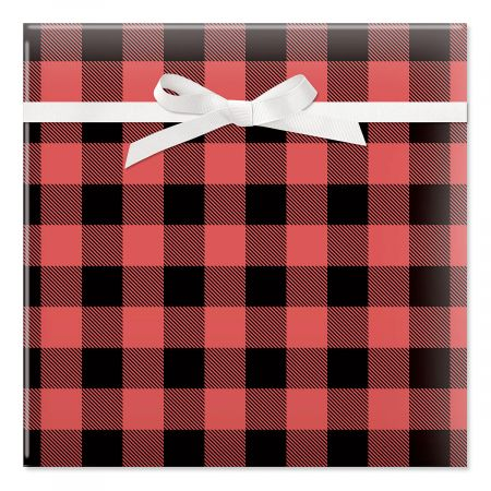 Classic Buffalo Plaid Rolled Gift Wrap