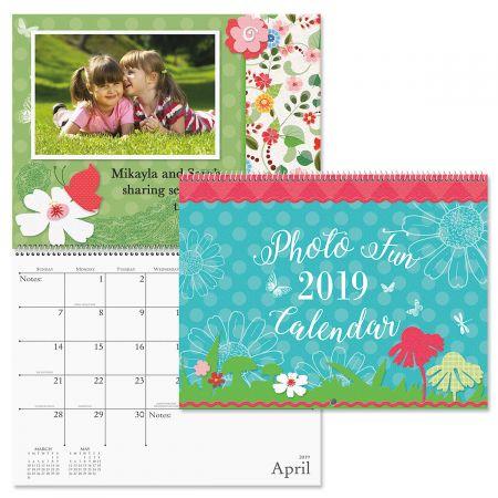 2019 Photo Fun Scrapbook Wall Calendar