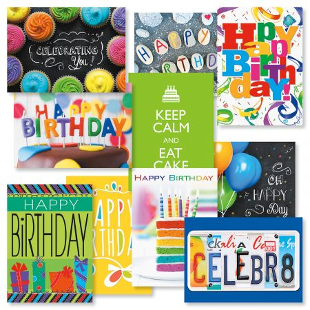 big words birthday cards value pack current catalog