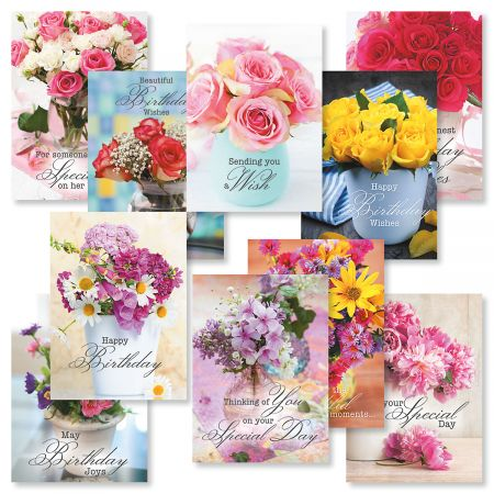 Floral Bouquets Birthday Greeting Cards Value Pack Current Catalog