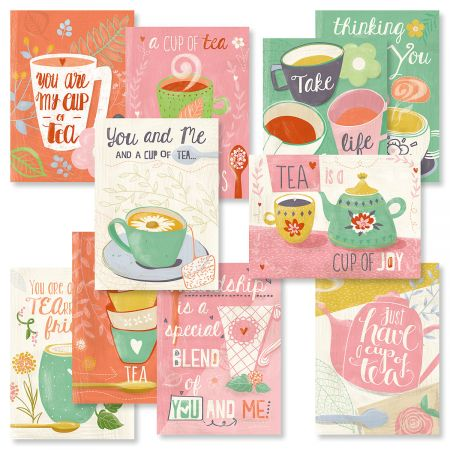 Teacup Friendship Greeting Cards Value Pack