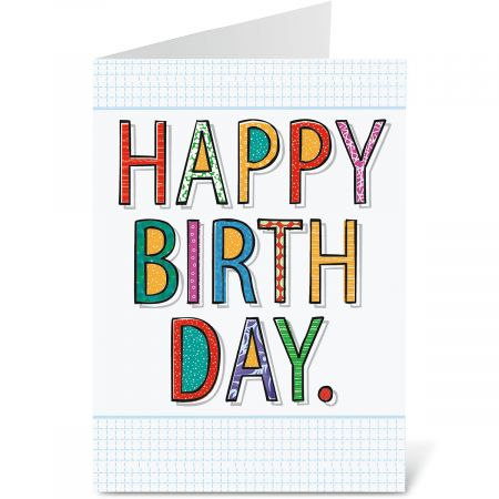 Bold Wishes Birthday Cards