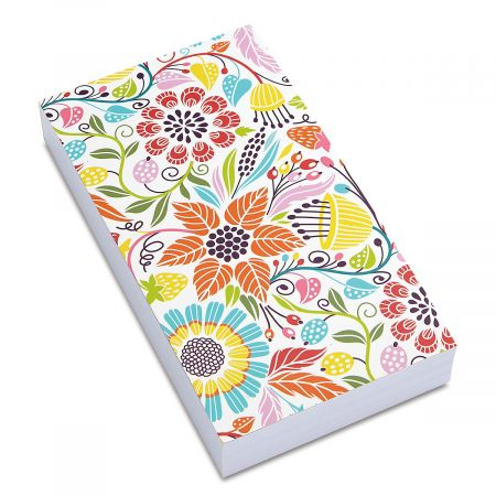 Stocky Block Floral Notepad