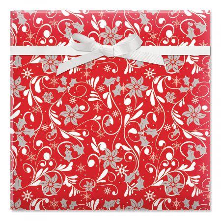 Red Fantasia Jumbo Rolled Gift Wrap