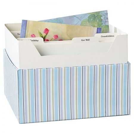 Cool Floral Greeting Card Organizer Box and Labels