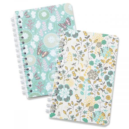 Butterfly Floral Mini Spiral Notepads