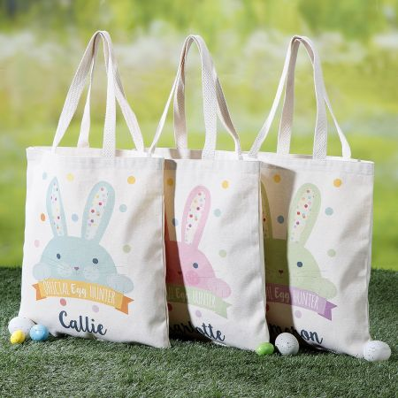 Kids Personalized Easter Egg-Hunter Totes
