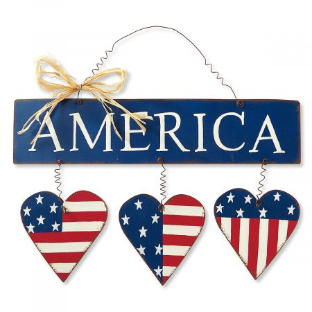 America with Hearts Sign