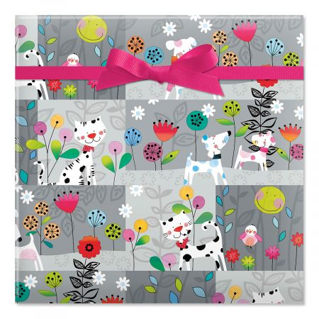 Polka Dot Pets Jumbo Rolled Gift Wrap