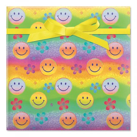 Smiley Faces Jumbo Rolled Gift Wrap