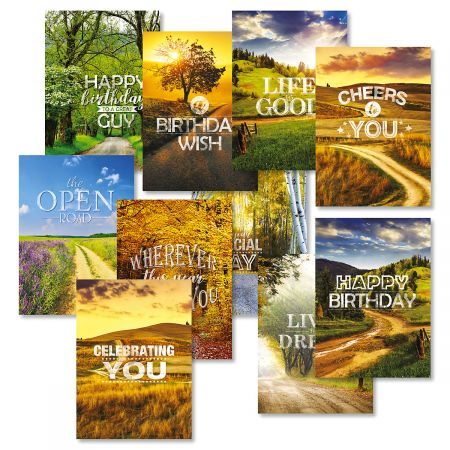 Open Road Birthday Greeting Cards Value Pack