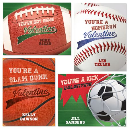 Sports Personalized Kids' Valentines