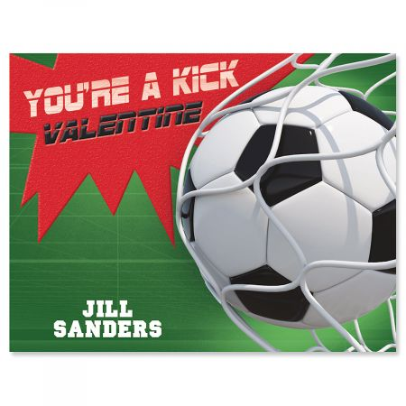Personalized Sports Valentines - Soccer
