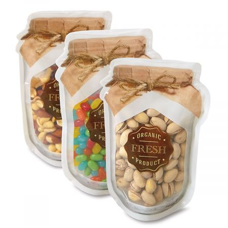 Narrow Jar-Shape Zipper Bags