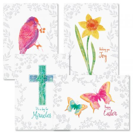 Deluxe Embossed Easter Cards
