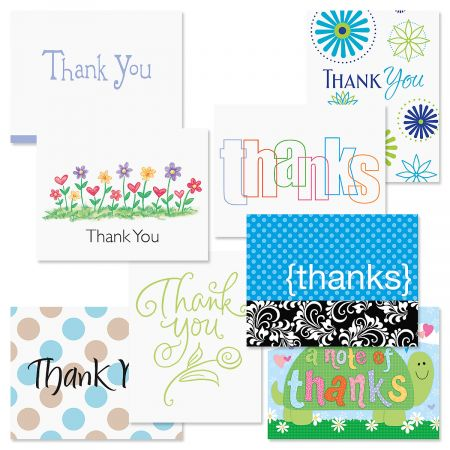 Thank You Note Cards Value Pack