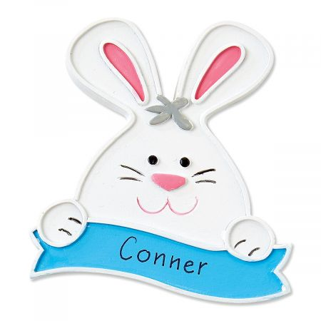 Personalized Blue Bunny Magnet