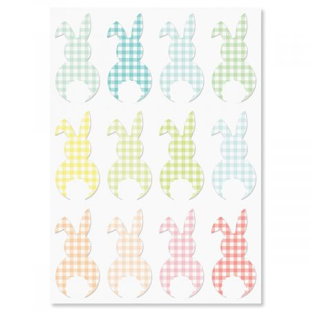 Gingham Bunny Easter Greeting Cards