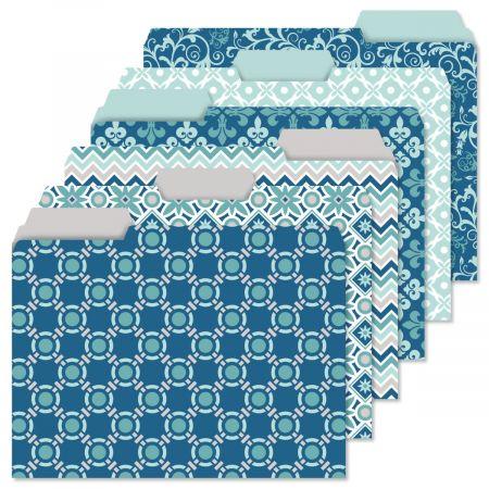 Coastal Blue File Folder Value Pack