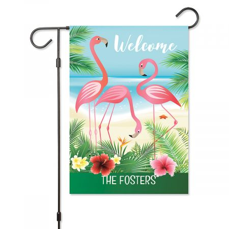 Flamingo Personalized Garden Flag Flamingo Personalized Garden Flag