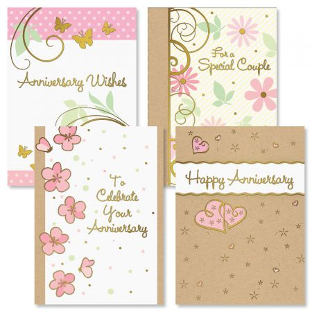 Deluxe Classic Wishes Anniversary Cards