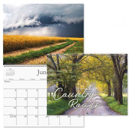 2019 Country Roads Wall Calendar