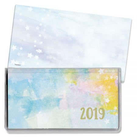 2019 Brush Strokes Pocket Calendar