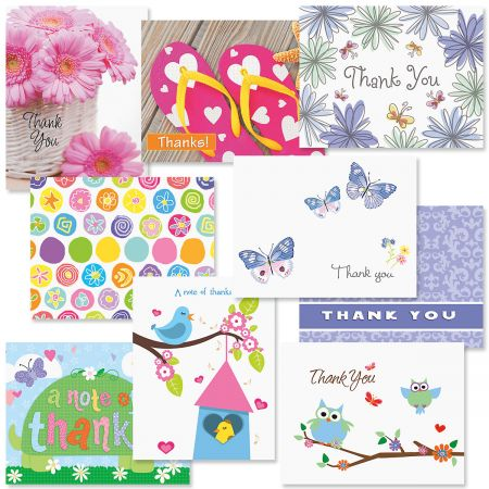 Thanks Note Cards Value Pack